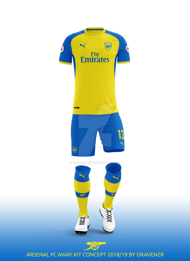 Arsenal FC Away Kit 2018 19 Concept by Dravenzr by dravenSt0rM on ... b06ee7437