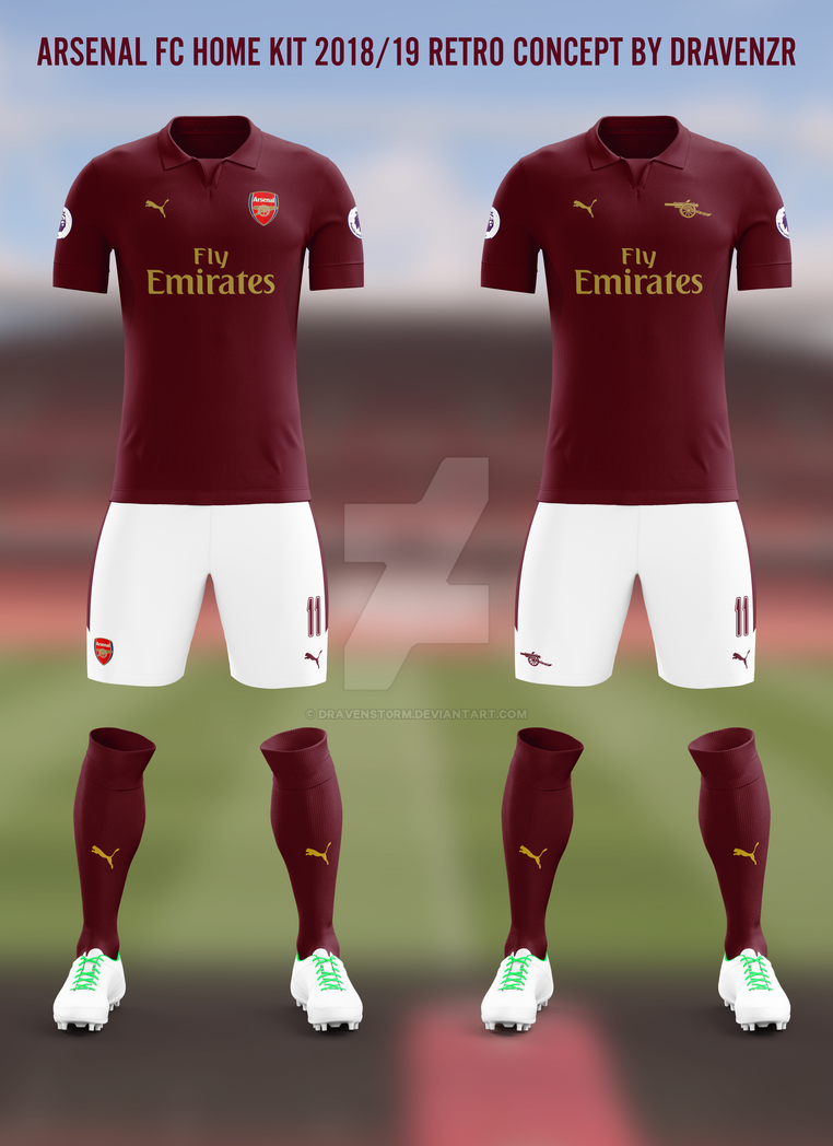 d615070743f Arsenal FC Home RetroKit 18 19 Concept by Dravenzr by dravenSt0rM on ...
