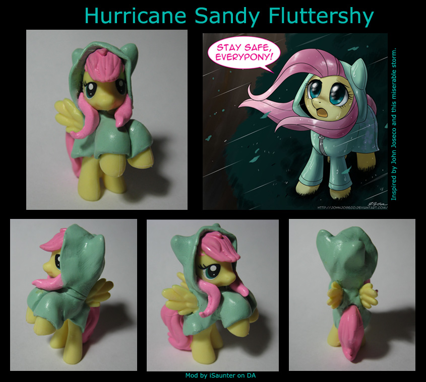 Hurricane Fluttershy - Sandy Edition by iSaunter