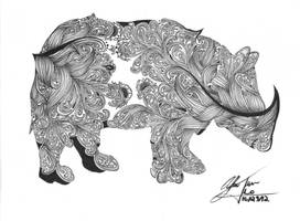 Rhinoceros Zentangle