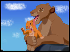 Sarabi and Simba by Kasablanka