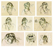 Tzekel-kan sketches by FlyingCarpets