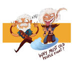 Why must old people fight?