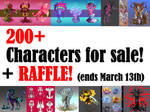 [CLOSED] 200+ Characters for sale + Raffle!