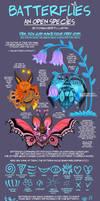 OPEN SPECIES: Batterflies