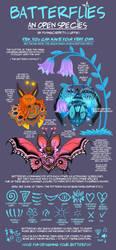OPEN SPECIES: Batterflies by FlyingCarpets