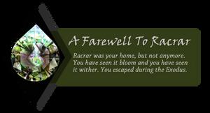TFR: Farewell To Racrar