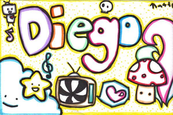 Diego nombre en graffiti - Imagui