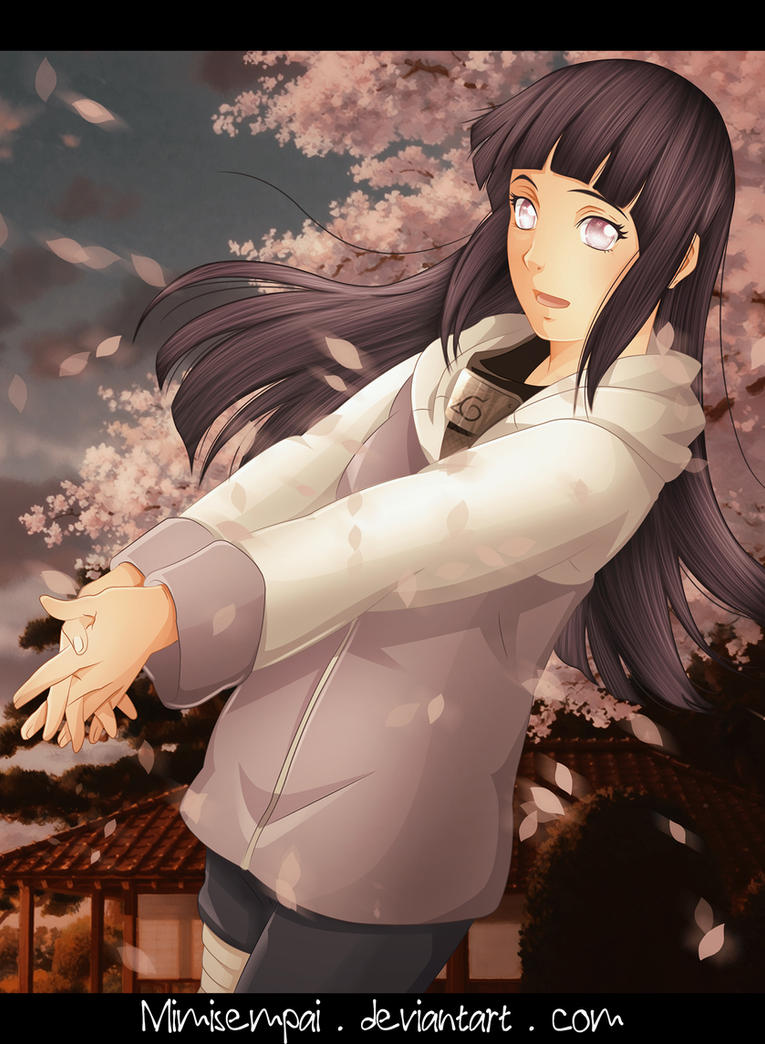 Naruto : Hinata_The wind of happiness by MimiSempai