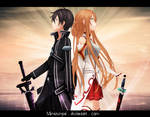 SaO Asuna and Kirito_Gift for RosenAngel