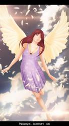 Fanart Fairy Tail Angels _ Erza Scarlet by MimiSempai