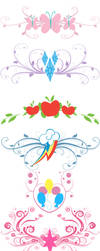 MLP - Tramp Stamp templates by ZOE-Productions