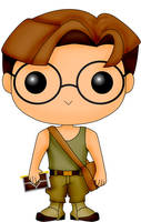 Funko Pop Fan Art- Atlantis- Milo Thatch by CSF-Designs