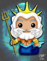 Funko Pop fan art- King Triton by CSF-Designs