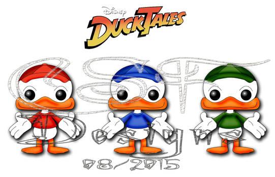 Huey Dewey Louie Funko/Disney Fan Art