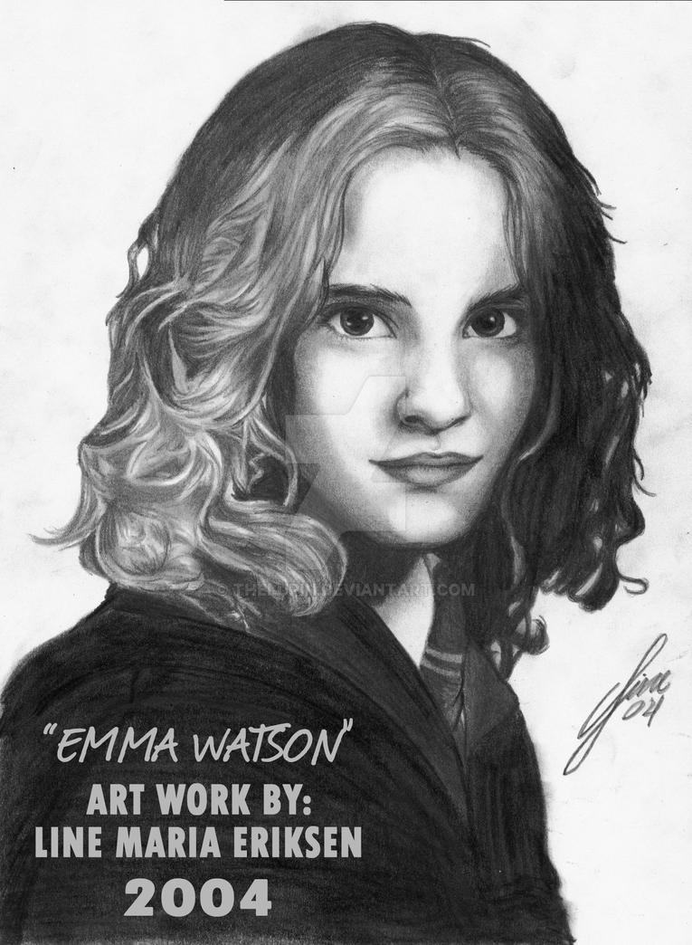 Potrairt of Emma Watson by TheLupin