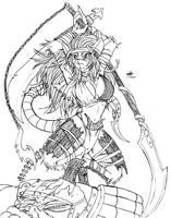 Ink-Eyes Servant of Kuro by avencri