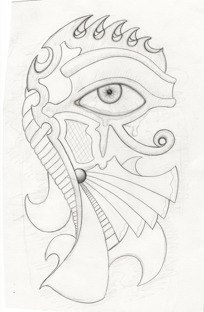 eye of horus tattoo sketch by laagernaught on deviantart. Black Bedroom Furniture Sets. Home Design Ideas
