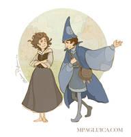 Molly and Schmendrick by DarkSunRose