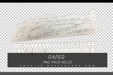 png pack 23 Paper by Sean-Ye by Chen-Ye