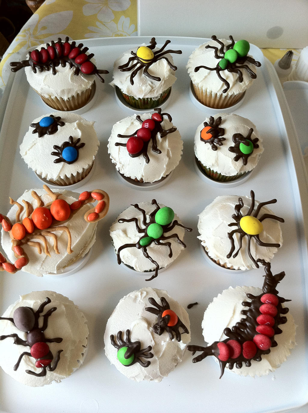 Bug Cupcakes By Starrosethree On DeviantArt - Bug cupcake decorating ideas