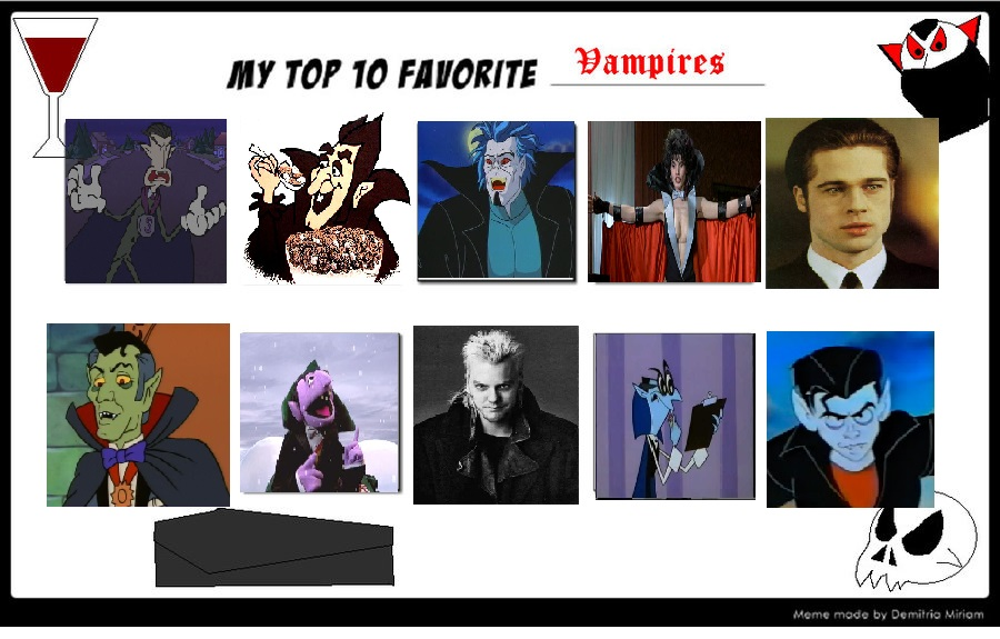 K-Dog0202's top 10 Vampires part 2 by K-dog0202