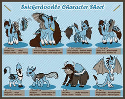 Snickerdoodle: Reference Sheet by SkyRiverProductions