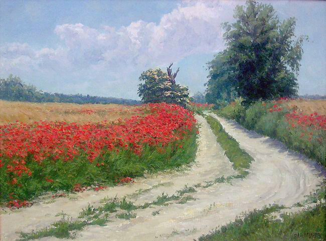Country road by AnatolyPanagonovART