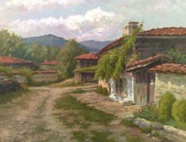 Bulgarian village by AnatolyPanagonovART