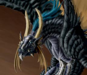Dragon Form Close up by CyrusBloodmoon