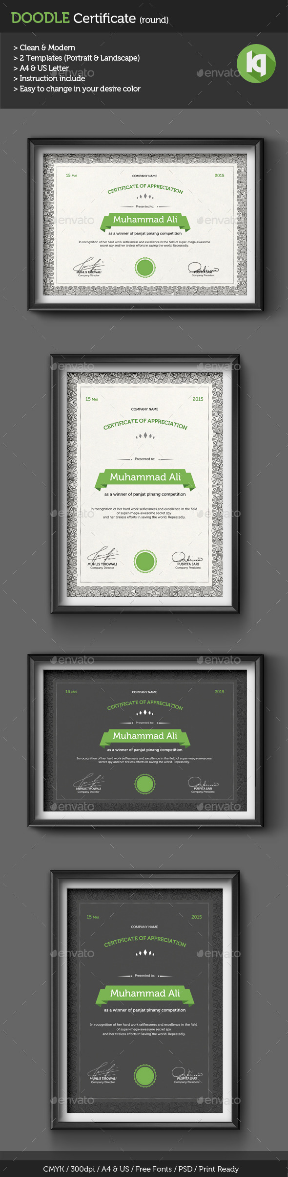Doodle certificate template round by kholispress on deviantart doodle certificate template round by kholispress yadclub Image collections