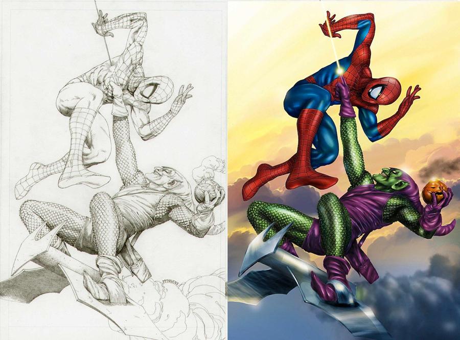 Spider Man vs Green Goblin by bennyotavio