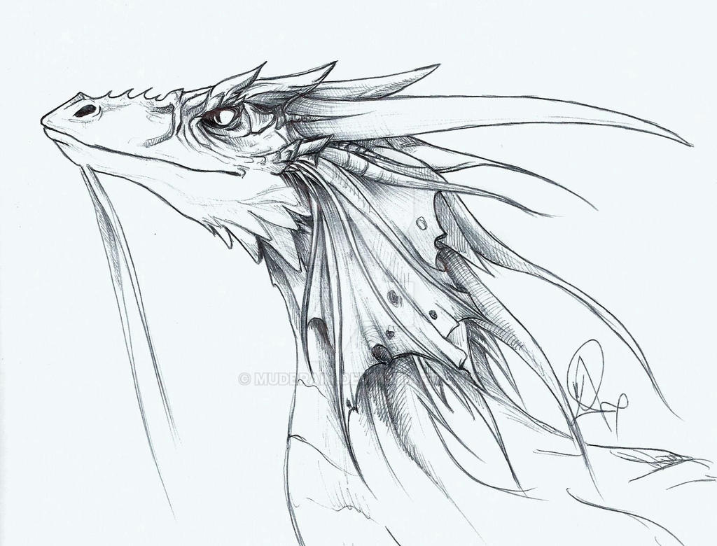 Sketch of a sketch of a Dragon by mudbrain