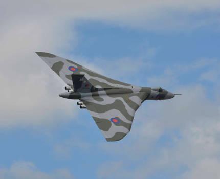 Vulcan Bomber over Woodford