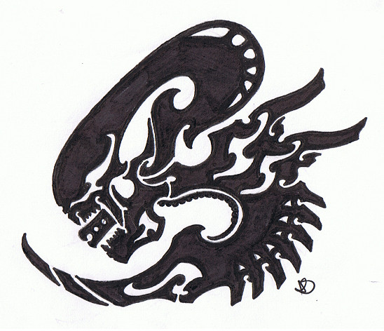 Tribal Xenomorph by Helletic-Hybrid