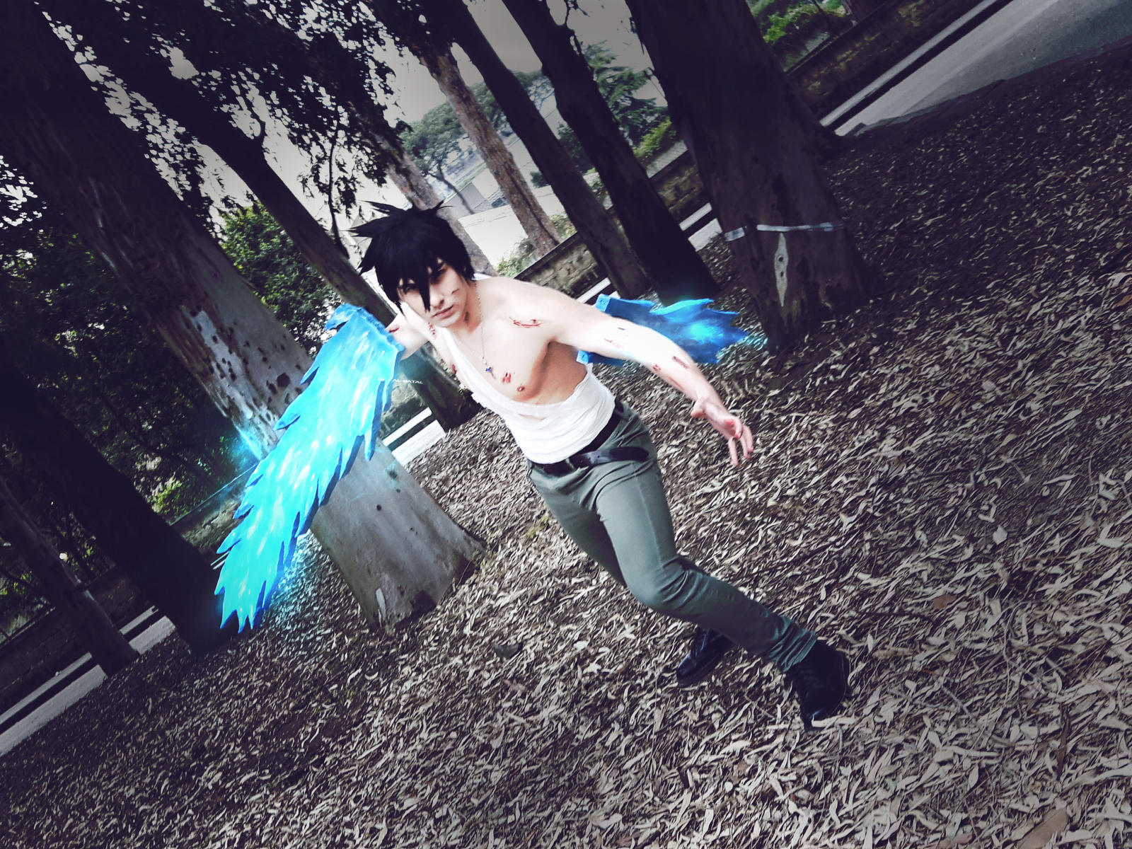 gray fullbuster cosplay with ice make blade by ihytez on