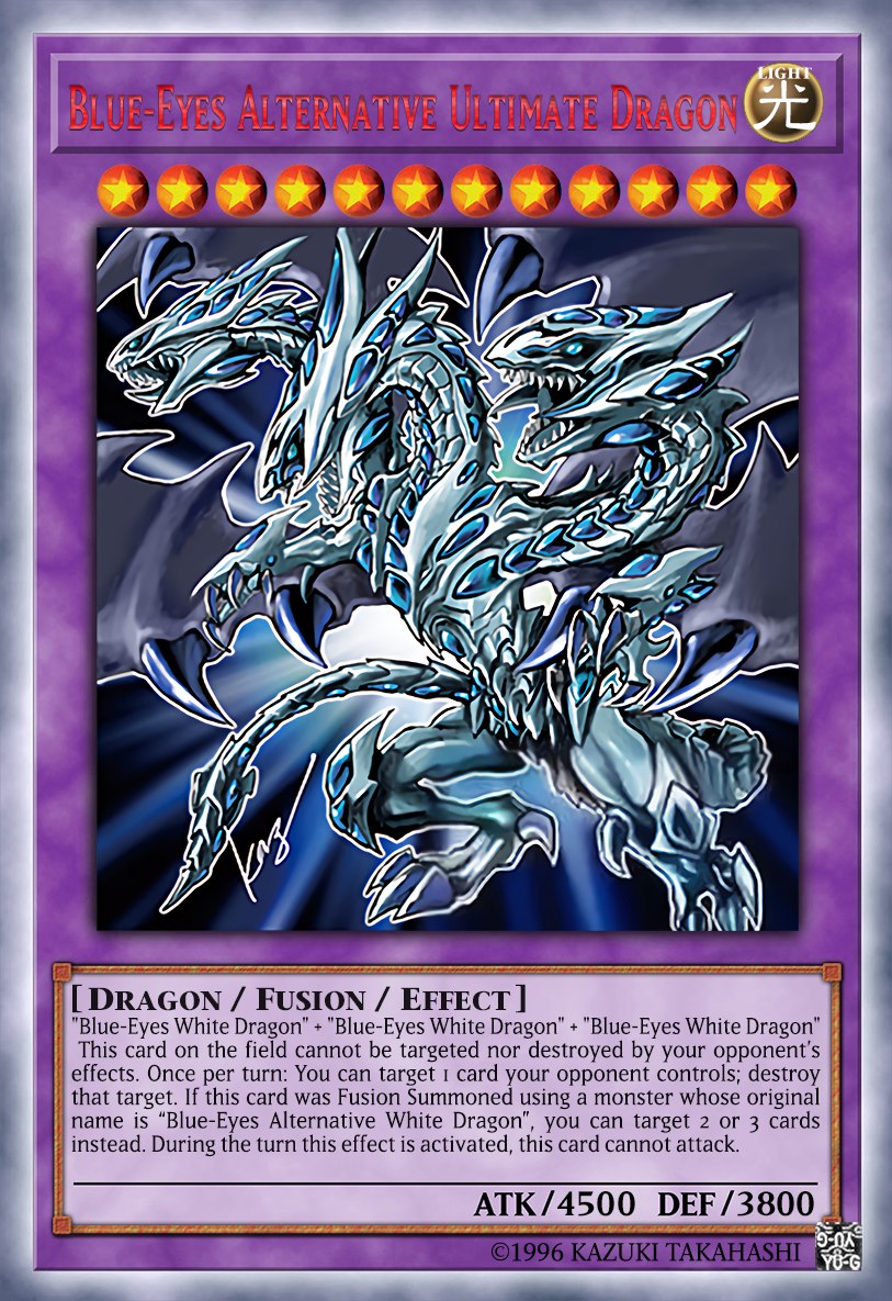 Blue Eyes Alternative Ultimate Dragon By 726312107 On Deviantart