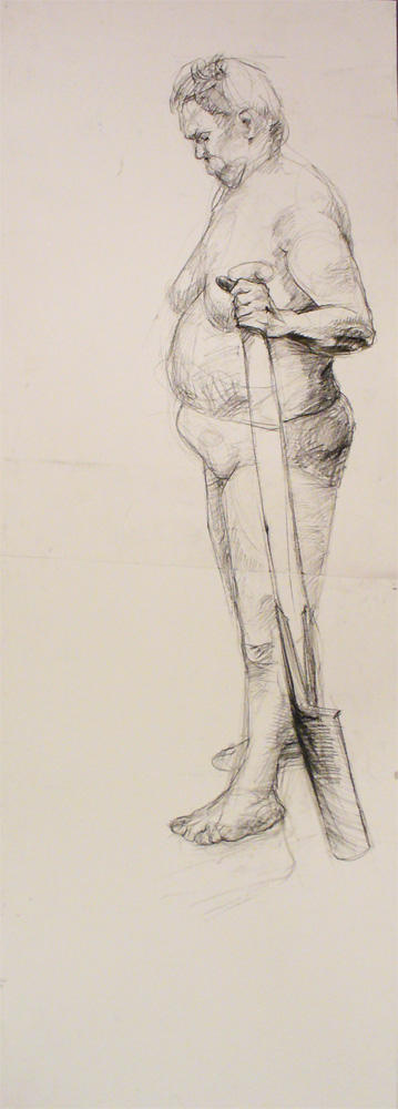 female figure with a shovel