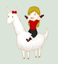 My llama and I by Meerkat484