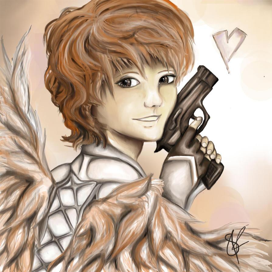 Eros the god of loves looks