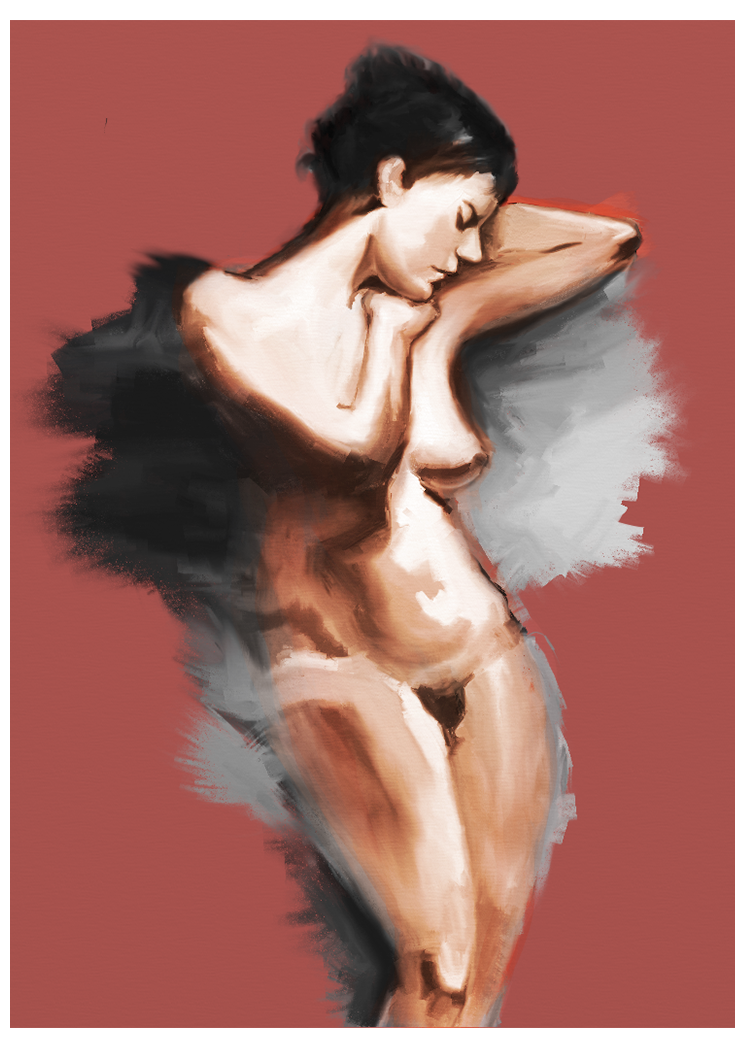 Red nude no border by ujalloh