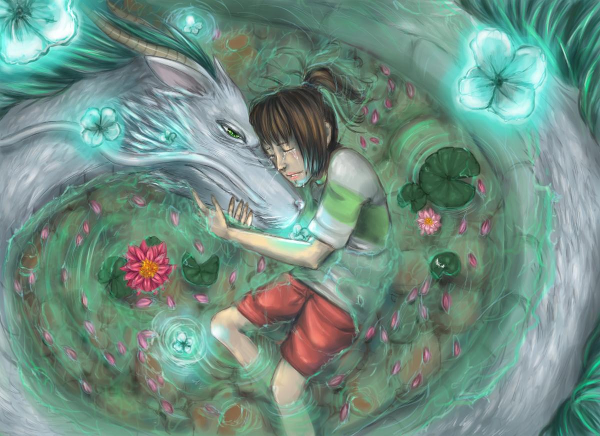 Chihiro and Haku by HaitiKage