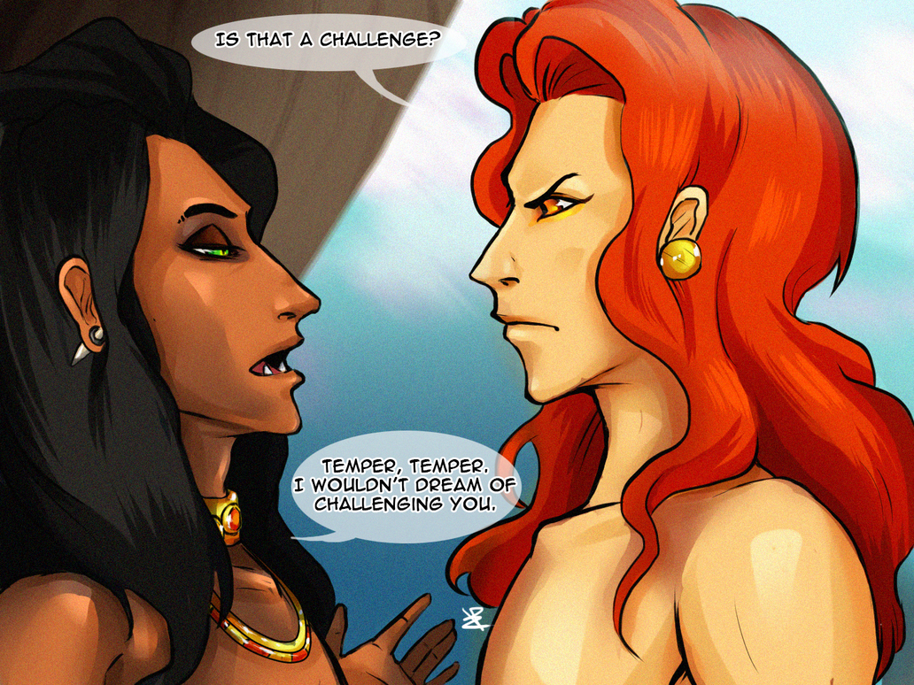 scar and mufasa  is that a challenge  by haitikage on