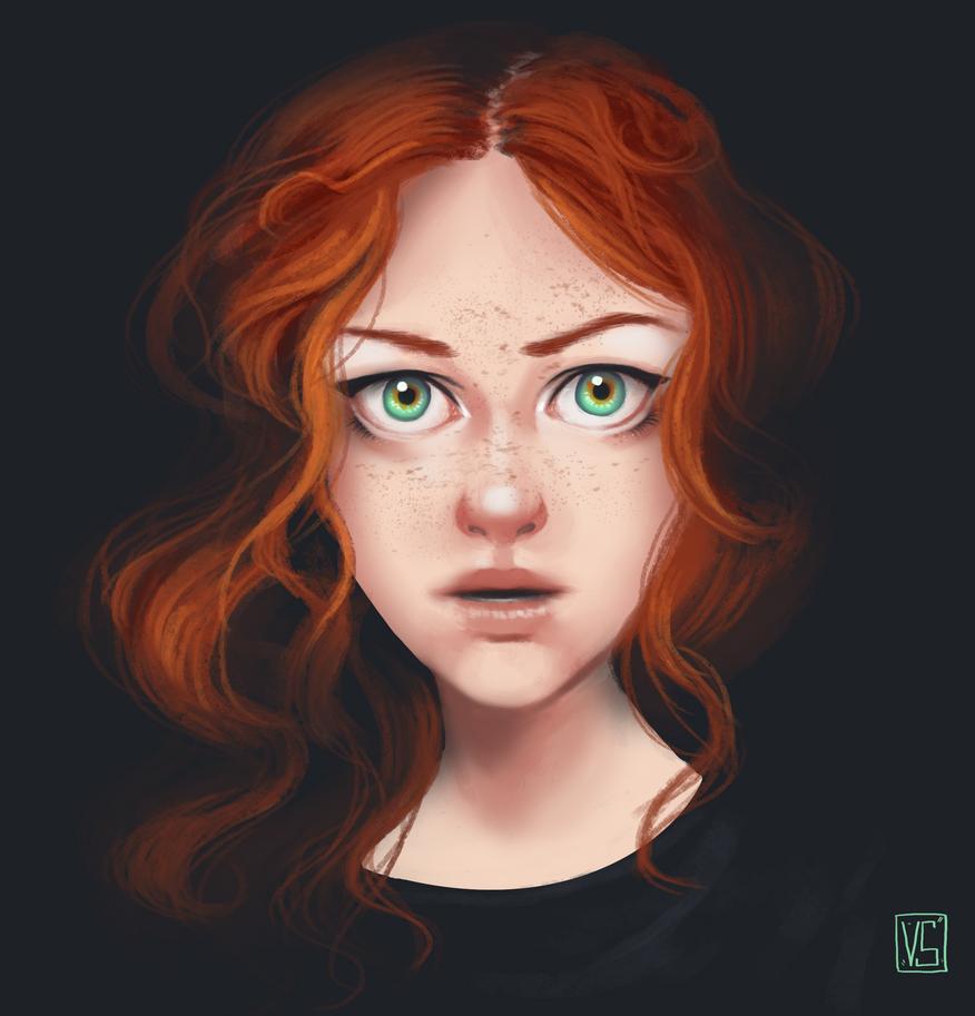 Portrait study by HaitiKage