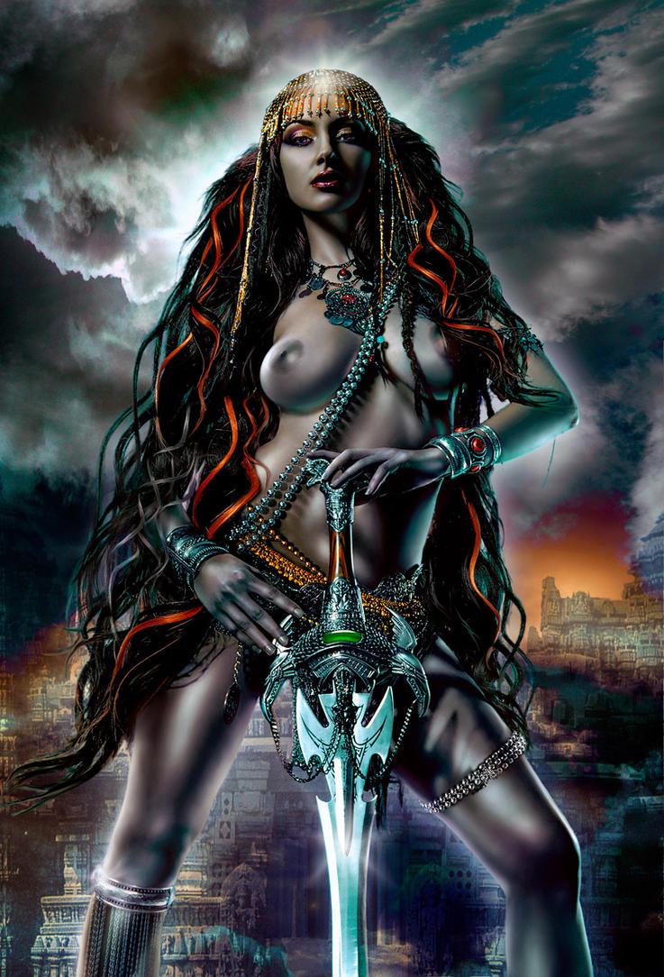 Temple Guard Priestess by OzSpiniello