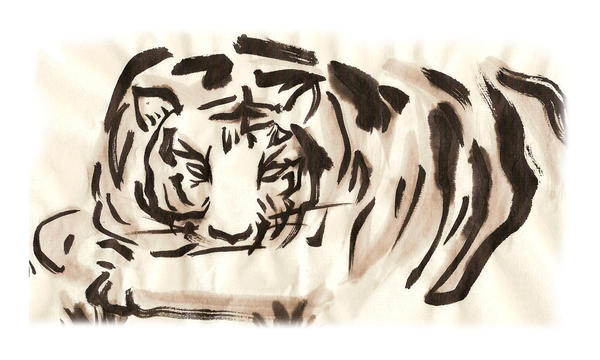 Sumie - Tiger by Kemys