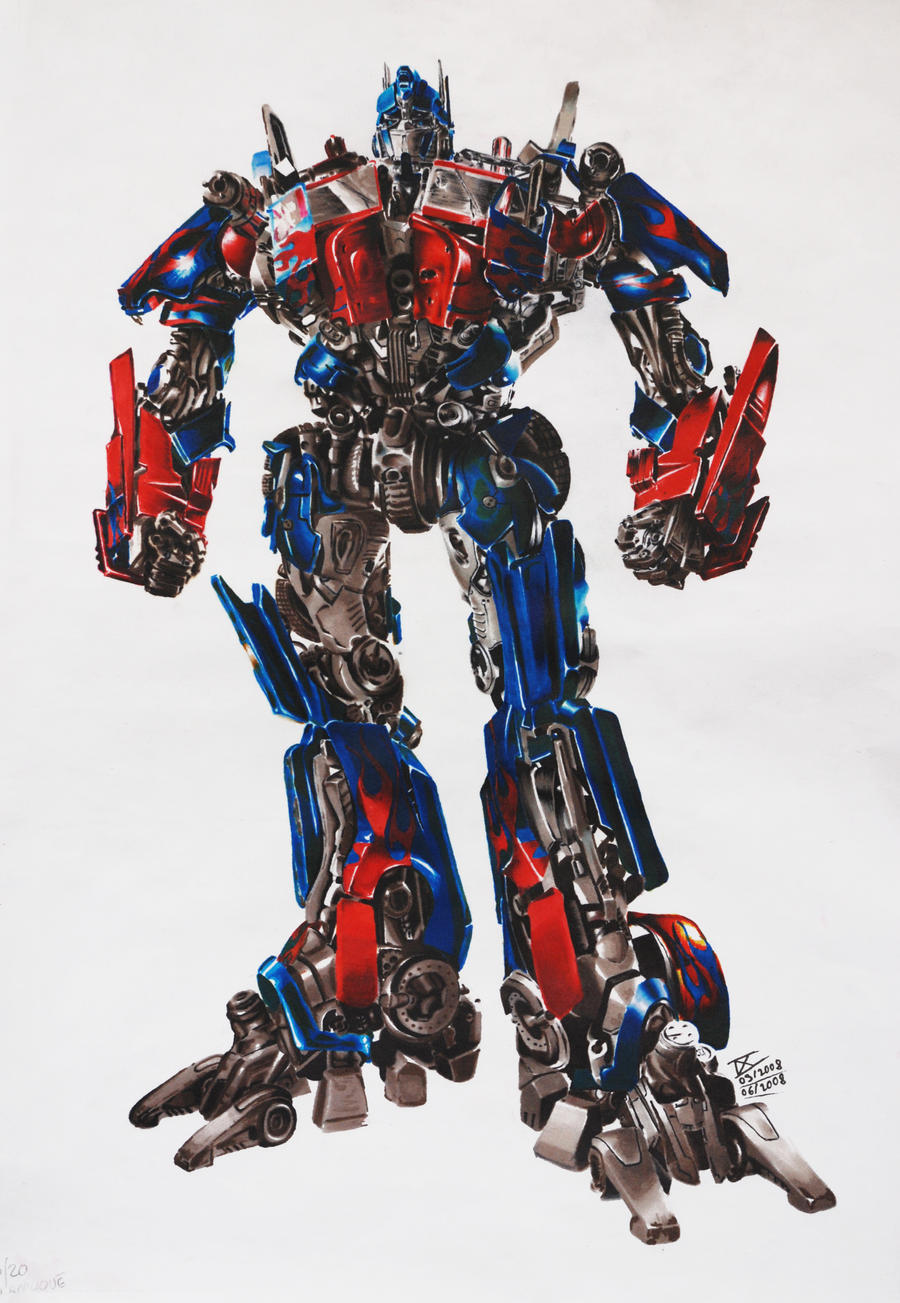 Comment dessiner optimus prime - Dessin optimus prime ...