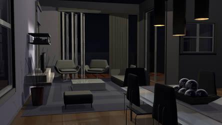 Interior-Night by TAoVEZ