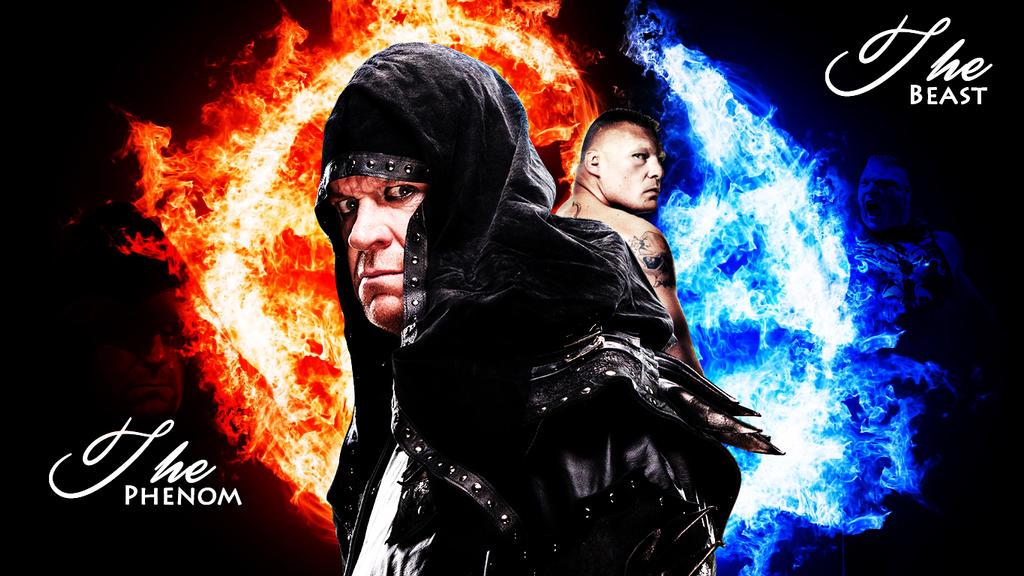 The Undertaker Vs Brock Lesnar By Menasamih