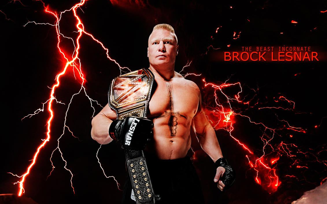 The WWE WHC Champion Brock Lesnar By Menasamih